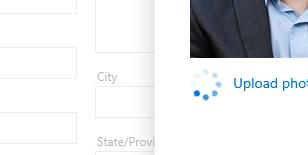Outlook 365 upload profile picture progress