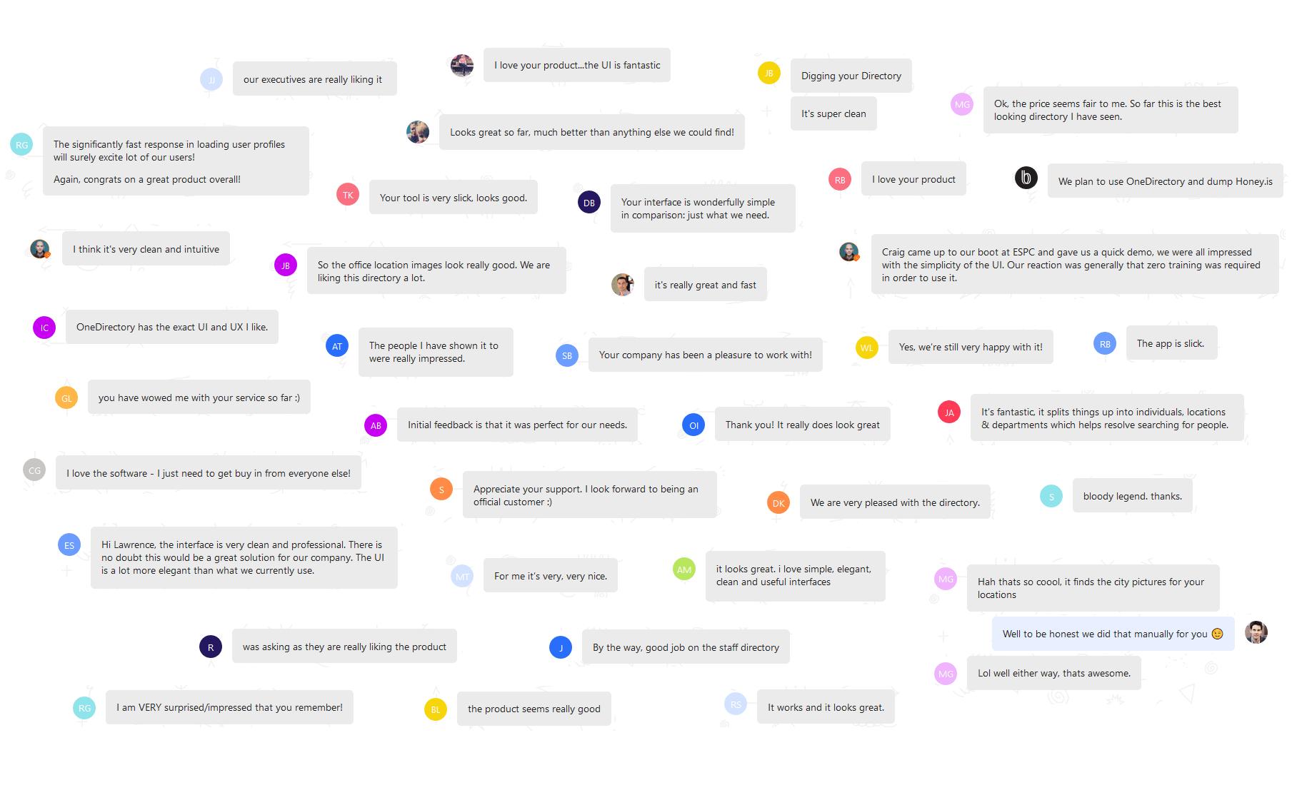 Vinewave's customer compliments