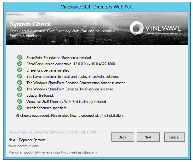 Updates to our SharePoint Installer