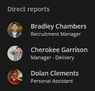 Employee profile org chart direct reports
